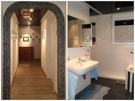 Eingangsbereich und Badezimmer nach Feng Shui